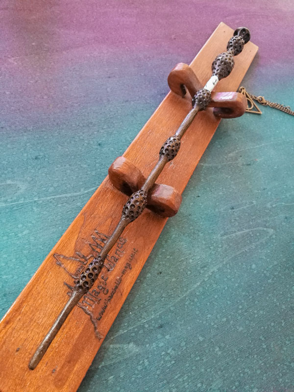 the elder wand in wood