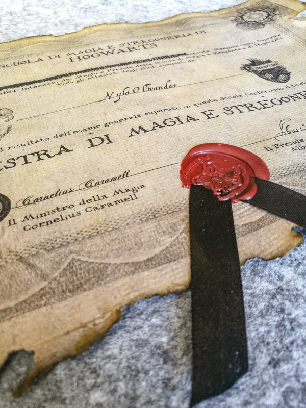 Diploma di Hogwarts Harry Potter